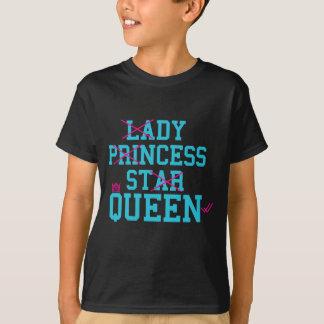 Camiseta Rainha da estrela da princesa da senhora