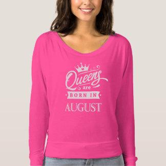Camiseta Rainha de inglaterra are born em August