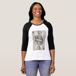 Camiseta Rainha do abstrato dos corações