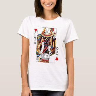 Camiseta Rainha do cartão do póquer & rei do presente de