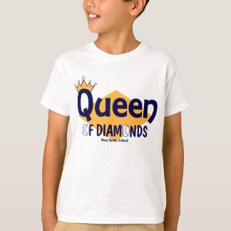 Camiseta Rainha do softball de WH dos diamantes