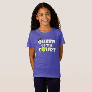 Camiseta Rainha do tênis das meninas do jogador de ténis