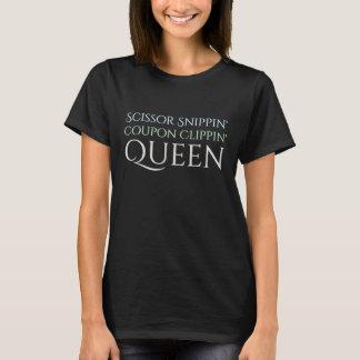 Camiseta Rainha do vale com grampeamento das tesouras