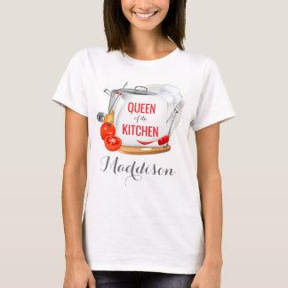 Camiseta Rainha personalizada do t-shirt do gourmet da