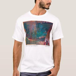 Camiseta rainingdown, mantendo a luz eterno da vida…