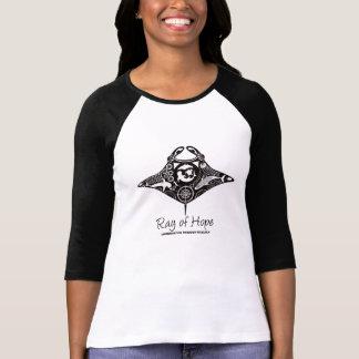 Camiseta Raio de Manta de trabalhos de arte do preto do