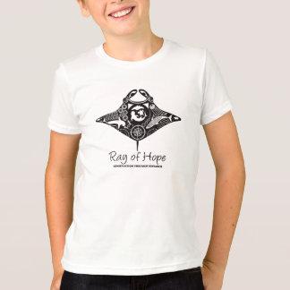 Camiseta Raio de Manta do impressão do preto do t-shirt da