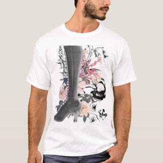 Camiseta Raio X do salto alto na listra Tonal