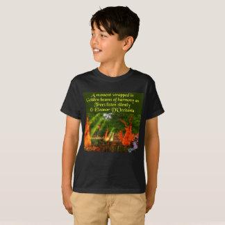 Camiseta Raios de sol do t-shirt do Hanes dos miúdos da