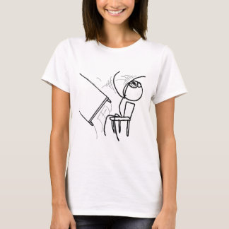 Camiseta Raiva Meme do sacudir da mesa