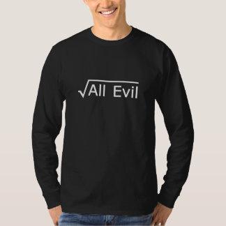 Camiseta Raiz de todo o mau - expressão engraçada da