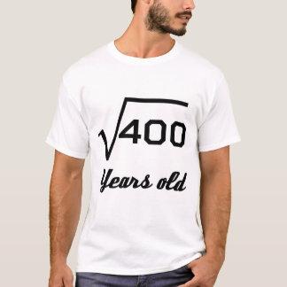 Camiseta Raiz quadrada de 400 20 anos velho