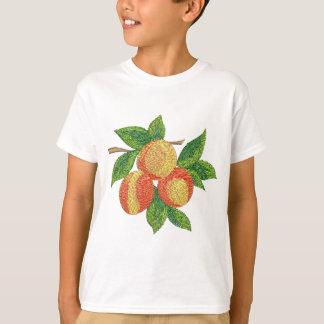 Camiseta ramo do pêssego, imitação do bordado