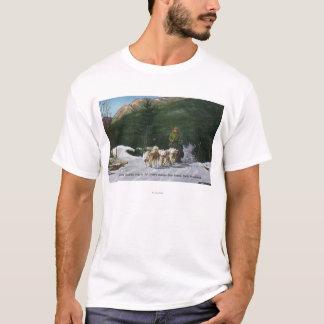 Camiseta Rancho do cão Eskimo de Ed Clark, Dogsledding