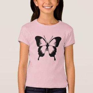 Camiseta Rapariga rosa Shirt com borboleta