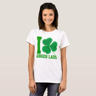 Camiseta Rapazes irlandeses do gengibre do amor do dia | I
