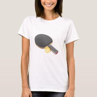 Camiseta Raquete e bola de ténis de mesa