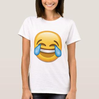 Camiseta Rasgos do emoji da alegria engraçados