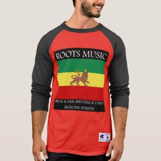 Camiseta Rasta - leão da bandeira de Etiópia da música das