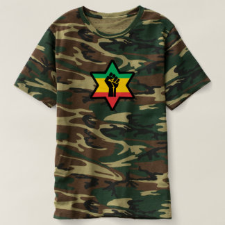 Camiseta Rastafara Power - Jah Army Bless reggae Shirt -