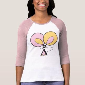 Camiseta Rato de bolso cor-de-rosa, ilustração gráfica
