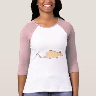 Camiseta Rato do animal de estimação. Jovem corça