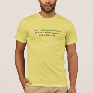 Camiseta Rato modesto - flutuador em poemas líricos
