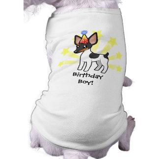 Camiseta Rato Terrier do aniversário/Fox Terrier do