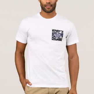 Camiseta Ratos brancos bonitos. No espaço profundo. Costume