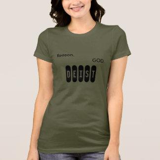 Camiseta Razão. Deus. Deist.