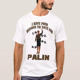 Camiseta Razão quatro para Palin