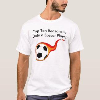 Camiseta razões da parte superior dez até agora um jogador