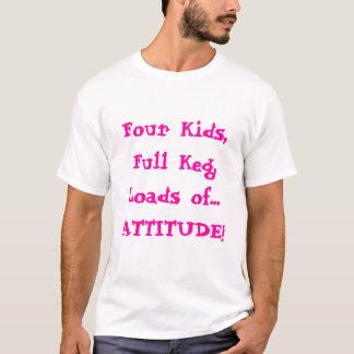 Camiseta Re-casados envelhecidos meio da mulher