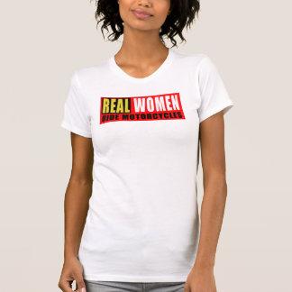 Camiseta Real women ride motorcycles