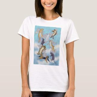 Camiseta Rebanho de gatos do anjo por Rachel Armington