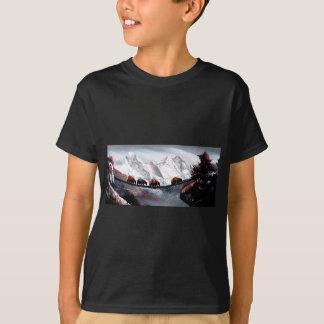 Camiseta Rebanho de iaques Himalaya da montanha
