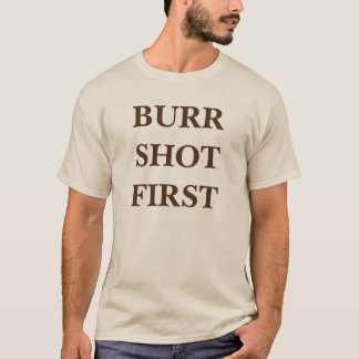 Camiseta rebarba de alexander hamilton Aaron disparada