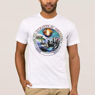 Camiseta Rebelião ao t-shirt do selo de Thomas Jefferson