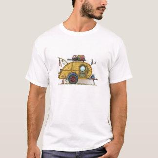 Camiseta Reboque bonito do viagem do campista da lágrima do