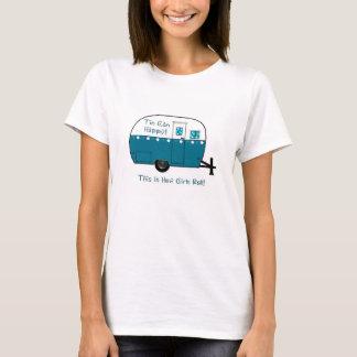 Camiseta Reboque de campista retro do T | das MULHERES