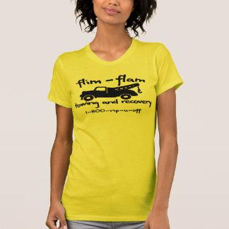 Camiseta reboque e recuperação do flam do flim