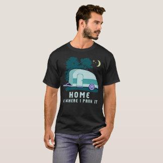 Camiseta Reboque Home de acampamento da lágrima