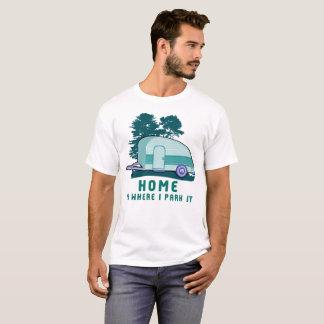 Camiseta Reboque Home de acampamento rv da lágrima