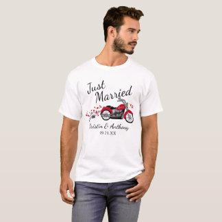 Camiseta Recem casados da motocicleta