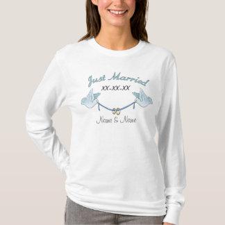 Camiseta Recem casados das pombas