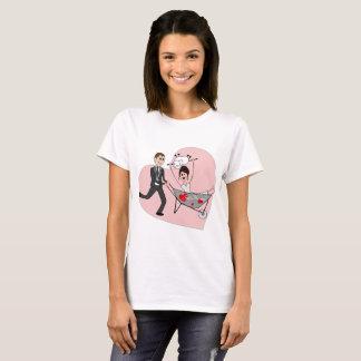 Camiseta Recem casados - thsirt dos desenhos animados para