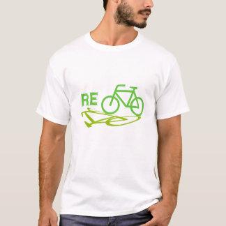 Camiseta Recicl o design da bicicleta