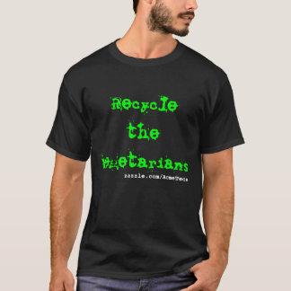 Camiseta Recicl os vegetarianos, zazzle.com/AcmeTees