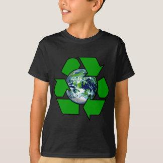 Camiseta Reciclar para a terra do planeta
