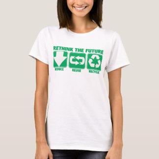 Camiseta Reconsideração o futuro, reciclar